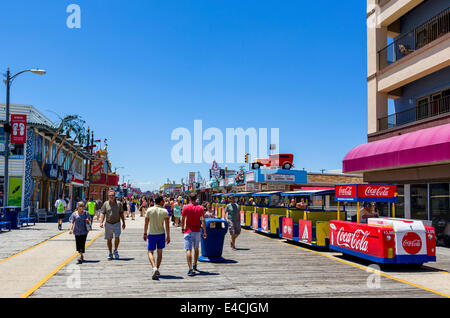 The boardwalk in North Wildwood, Cape May County, New Jersey, USA - Stock Photo