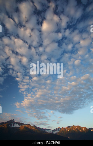 Castellanus clouds over Resurrection Bay, Seward, Alaska. - Stock Photo