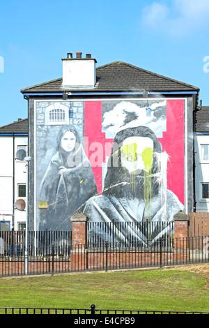 Mural of the Irish hunger-striker Raymond McCartney  in Rossville Street, Bogside, Londonderry, Derry, Northern - Stock Photo