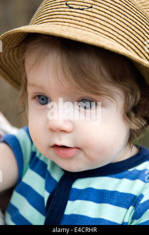 Portrait of Six Month Old Baby Boy - Stock Photo