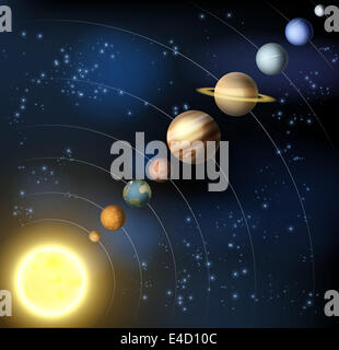 Planets of the Solar System (including Pluto Stock Photo ...