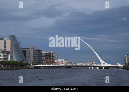 Samuel Beckett Bridge, Dublin, Leinster, Ireland - Stock Photo