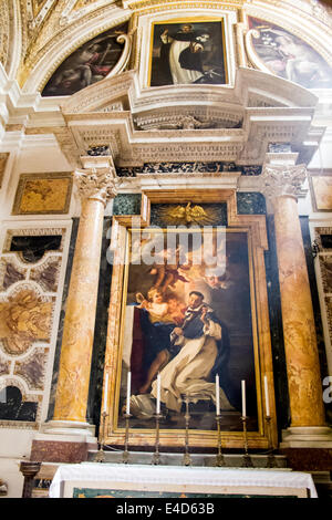 The Caffarelli Chapel in Santa Maria sopra Minerva in Rome - Stock Photo