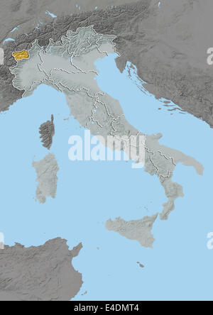Region of Aosta Valley Italy Relief Map Stock Photo 71603257 Alamy