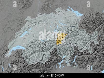 Map of canton Uri Switzerland Stock Photo Royalty Free Image