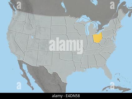 Physical Map Of Ohio Stock Photo Royalty Free Image Alamy - Ohio physical map
