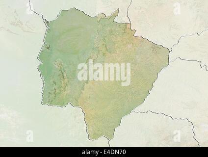 State of Mato Grosso do Sul, Brazil, Relief Map - Stock Photo
