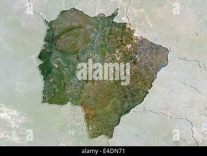 State of Mato Grosso do Sul, Brazil, True Colour Satellite Image - Stock Photo