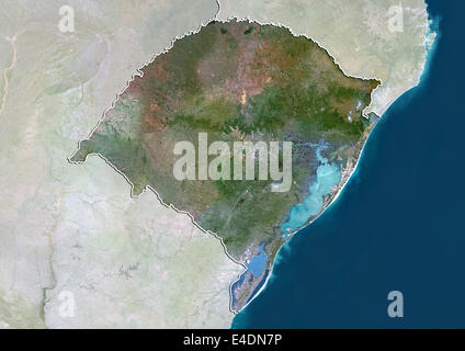 State of Rio Grande do Sul, Brazil, True Colour Satellite Image - Stock Photo
