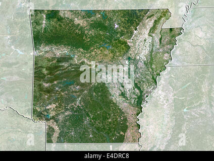 Physical Map Of Arkansas Stock Photo Royalty Free Image - Arkansas relief map