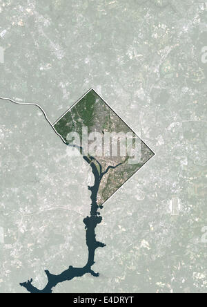 Washington DC physical map Stock Photo 18328177 Alamy