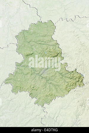 Departement of Haute-Vienne, France, Relief Map - Stock Photo