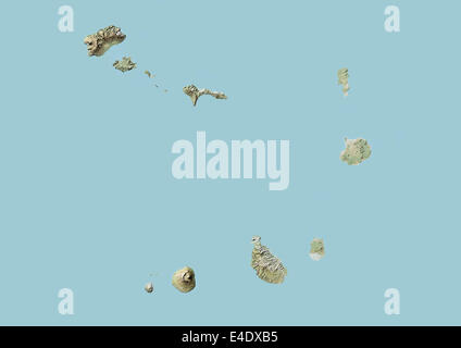 Cape Verde, Relief Map - Stock Photo