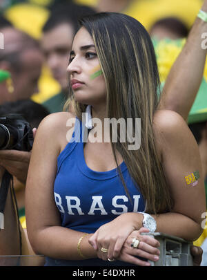 Belo Horizonte, Brazil. 8th July, 2014.  brazilian supporter in semifinal match between Brazil and Germany, played - Stock Photo