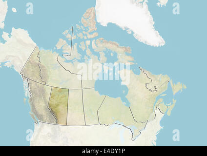 Province Of Alberta Canada Relief Map Stock Photo Royalty Free - Relief map of canada
