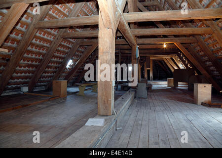 The attic of Gilleleje Church, North Zealand, Denmark. Hiding-place for Jews before being sailed to Sweden during - Stock Photo