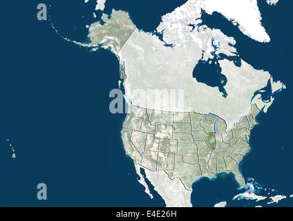 United States And The State Of Illinois True Colour Satellite Image Stock Photo