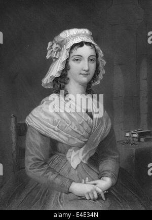 Marie Anne Charlotte Corday d'Armont, 1768 - 1793, a French noblewoman, the murderer of Jean-Paul Marat, French - Stock Photo