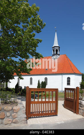 Gilleleje Church, North Zealand, Denmark. The attic was hiding-place for Jews before being sailed to Sweden during - Stock Photo