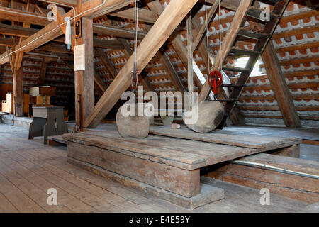The attic of Gilleleje Church, Denmark. Hiding-place for Jews before they were sailed to Sweden during  World War - Stock Photo