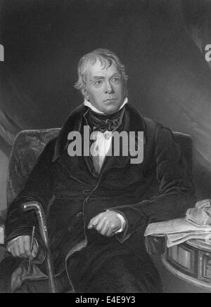 Sir Walter Scott, 1st Baronet of Abbotsford, 1771 - 1832, a Scottish poet and writer, - Stock Photo
