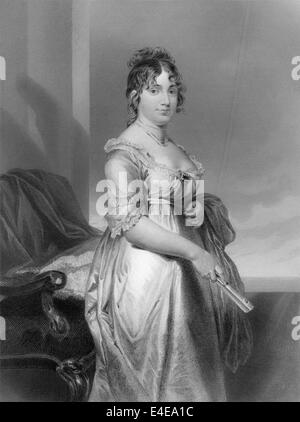 Dolley Payne Todd Madison, 1768 - 1849, the wife of James Madison, President of the United States, - Stock Photo
