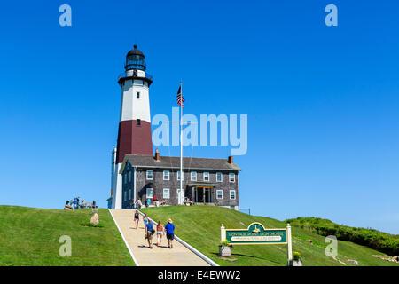 Montauk Point Light, Montauk Point State Park, Suffolk County, Long Island, NY, USA - Stock Photo