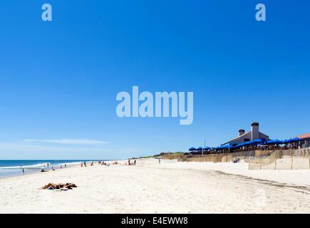 Beach at Southampton, The Hamptons, Suffolk County, Long Island , NY, USA - Stock Photo