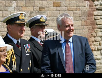 Labour First Minister Carwyn Jones AM in the city of Cardiff South Wales GB UK 2014 - Stock Photo
