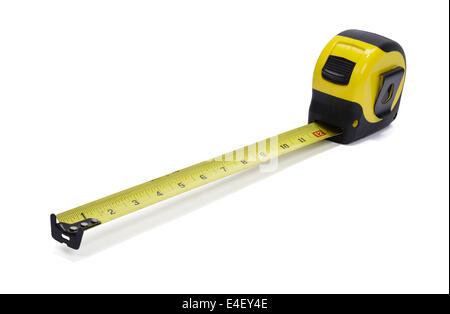 Yellow tape measure - Stock Photo