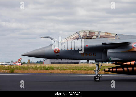 French Air Force Rafale jet during the NATO Tiger Meet 2014, Jagel, Germany. - Stock Photo