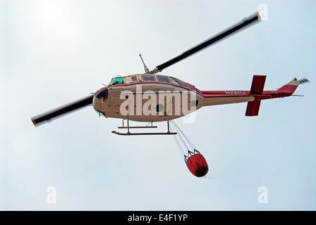 Fire fighter helicopter, USA - Stock Photo