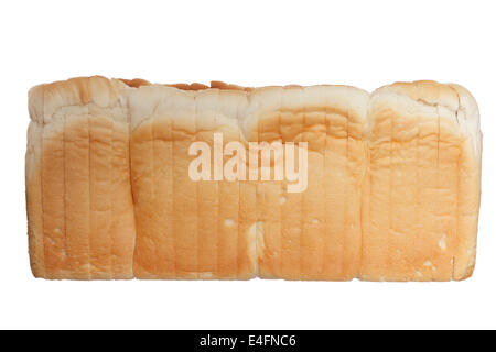 Photography of bread isolated on white background - Stock Photo