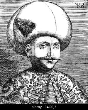 Mehmed III Adli (1566 Ð 1603). Sultan of the Ottoman Empire from 1595 until his death. Engraving by Philip Uffenbach - Stock Photo