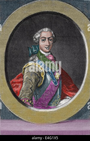 Joseph II (1741 - 1790) . Holy Roman Emperor from 1765 to 1790 and ruler of the Habsburg lands from 1780 to 1790. - Stock Photo
