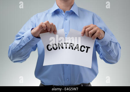 Tearing up the contract - Stock Photo