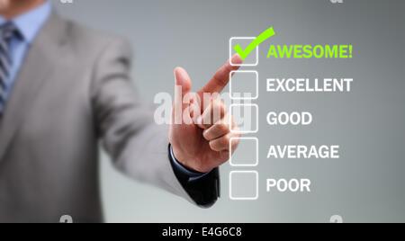 Customer service satisfaction survey - Stock Photo