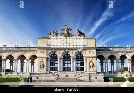 VIENNA, AUSTRIA - MAY 3: Gloriette pavilion on May 3, 2014 in Vienna. The pavilion was used as a dining and festival - Stock Photo