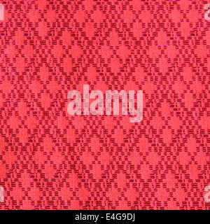 red Thai fabric patter - Stock Photo
