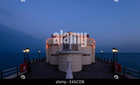 Worthing Art Deco Pier and Clock in the evening light. Picture by Julie Edwards - Stock Photo
