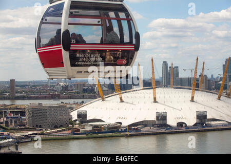 The O2 Arena on the River Thames in london, UK, it was formally the Millenium Dome. - Stock Photo