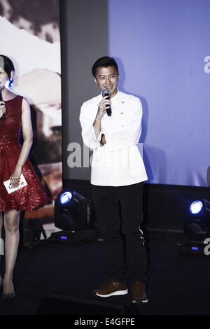 Beijing, China. 9th July, 2014. Singer/actor Nicholas Tse attends the premier of reality show 'Chef Nic' in Beijing, - Stock Photo