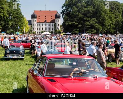 Bavarian Classic - Car Rallye at Maxlrain, Bavaria Germany 2014 - Stock Photo