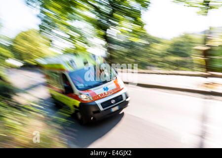 Italian Ambulance - Stock Photo