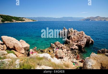 Beautiful transparent sea with rocks - Stock Photo