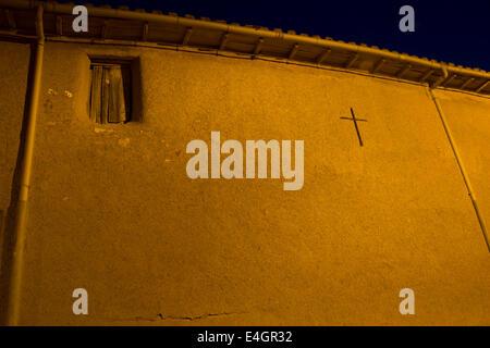 Taken on the Jakobsweg - camino de Santiago - Sunrise, Calzadilla de los Hermanillos - Stock Photo