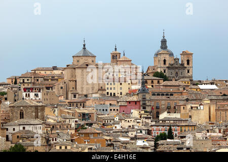 View over the old town of Toledo, Castilla-La Mancha, Spain - Stock Photo