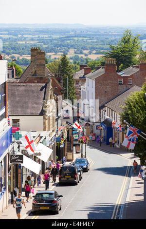 Church Street in the town of Malvern in Worcestershire, UK - Stock Photo