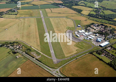 aerial view of Oxford Airport at Kidlington in Oxfordshire - Stock Photo