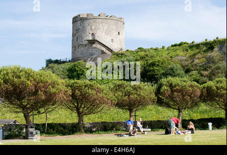 Mount Batten Tower overlooking Plymouth Sound south Devon England UK - Stock Photo